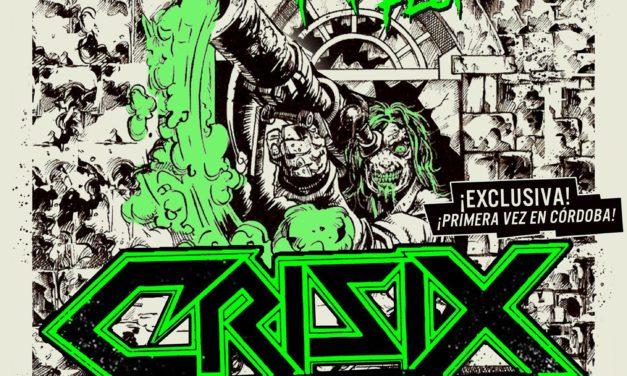 CRISIX actuará por primera vez en Córdoba el 26 de febrero