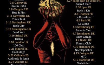 SHAWN JAMES publica una extensa gira por Europa y visitará España en marzo