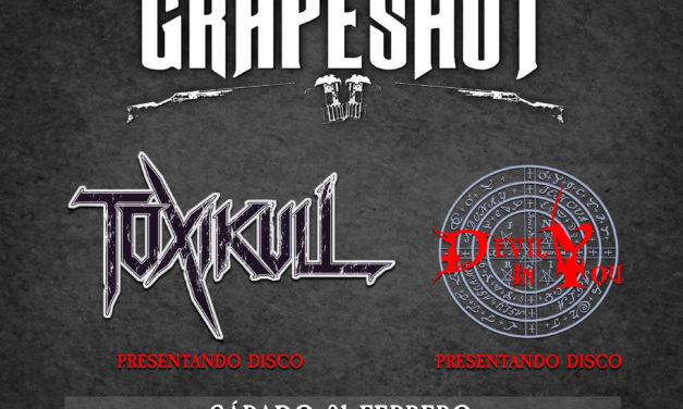 GRAPESHOT sustituye a SOLDIER en la fiesta presentación del Palacio Metal Fest