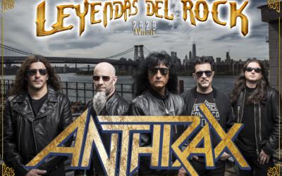 ANTHRAX se incorpora al cartel del Leyendas del Rock 2020