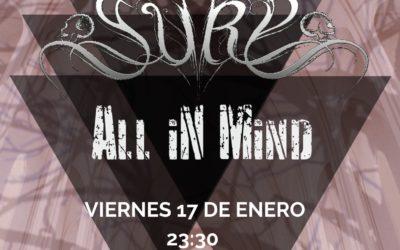 SURU y ALL IN MIND visitarán Granada este viernes 17 de enero