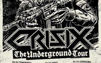 "CRISIX anuncia una nueva gira nacional, ""The Underground Tour"""