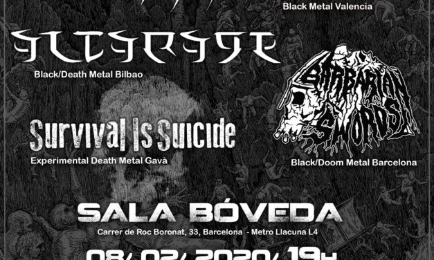 NOCTEM, ALTARAGE, BARBARIAN SWORDS y SURVIVAL IS SUICIDE el 8 de febrero en Barcelona