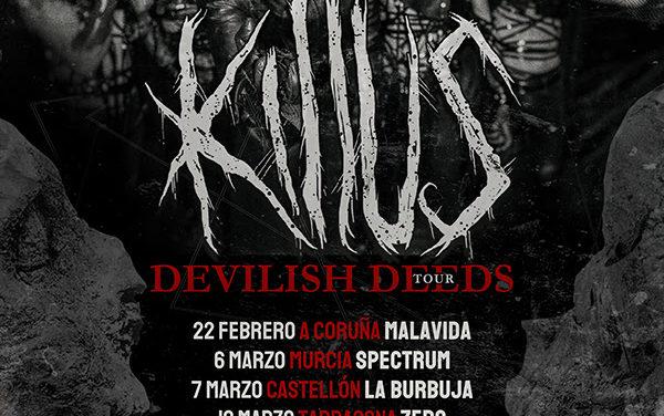 KILLUS anuncia las primeras fechas de su tour «Devilish Deeds»