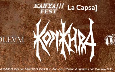 El próximo KANYA!!! FEST tendrá lugar el 28 de marzo