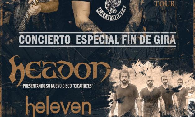 HEADON + HELEVEN darán un concierto especial fin de gira en Madrid