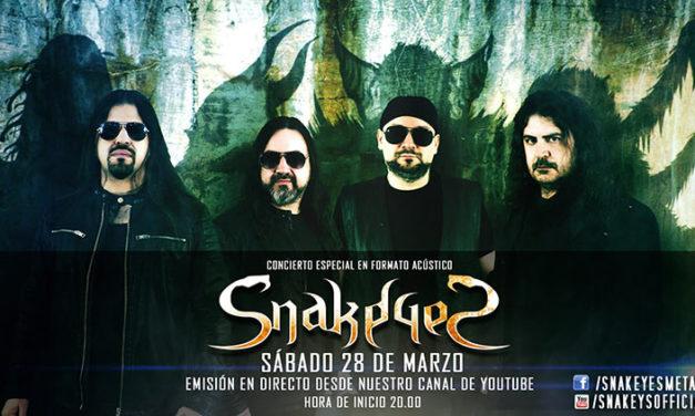 SNAKEYES presenta nuevo single y concierto acústico online