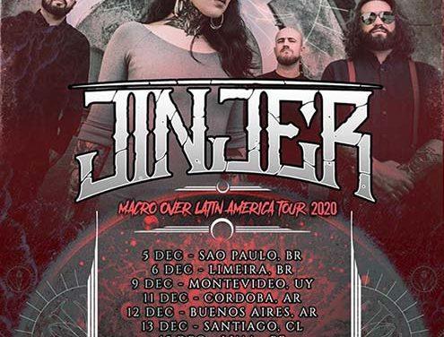 JINJER confirma una gira por Latinoamérica con 10 fechas
