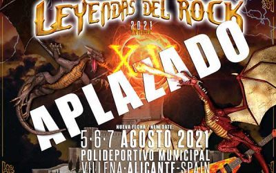 LEYENDAS DEL ROCK se aplaza a agosto de 2021