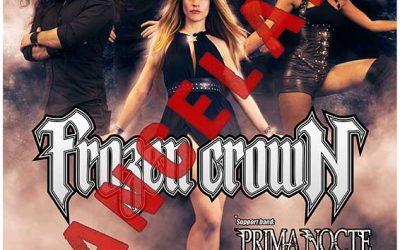 Queda cancelada la gira de FROZEN CROWN en España