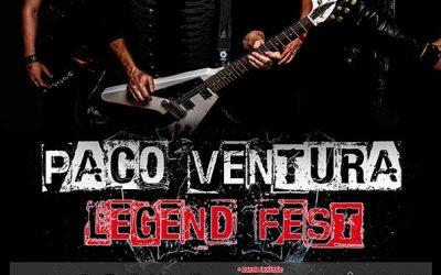 PACO VENTURA LEGEND FEST actuará en Torreperogil (Jaén) el 1 de agosto