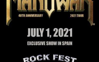 MANOWAR visitará el Rock Fest Barcelona en 2021