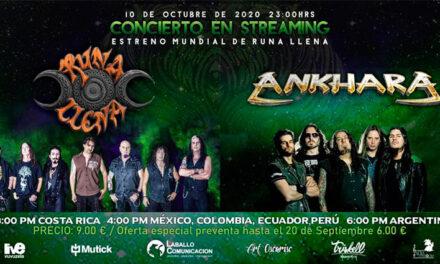 ANKHARA y RUNA LLENA ofrecerán un concierto por streaming el 10 de octubre