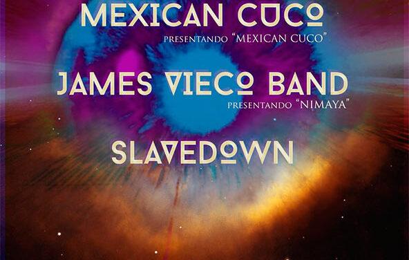 MEXICAN CUCO, JAMES VIECO BAND y SLAVEDOWN actuarán el 17 de octubre en Barcelona