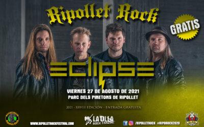 Ripollet Rock reubica su festival en 2021 con ECLIPSE, SISTER SIN, EVNEN y KILMARA