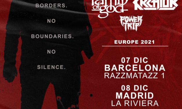 La gira de LAMB OF GOD y KREATOR llegará a España en diciembre