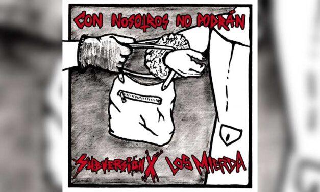 Ya está disponible el nuevo LP compartido de LOS MIERDA y SUBVERSIÓN X