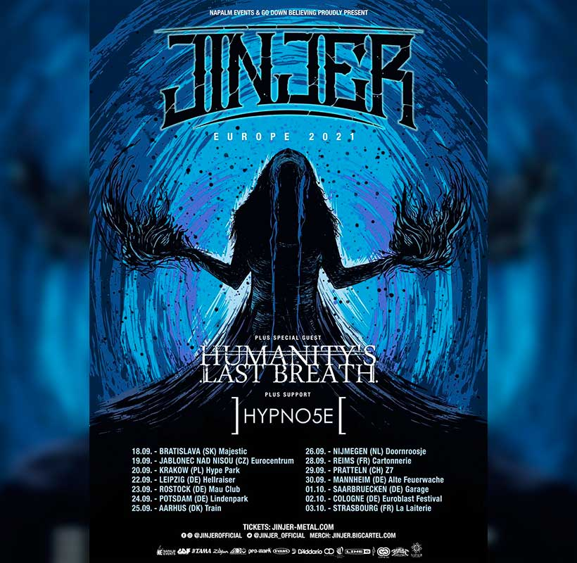 JINJER europe tour