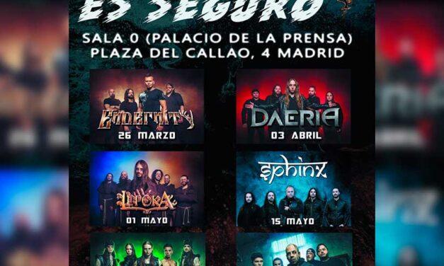 EL METAL ES SEGURO: ciclo de conciertos en Madrid organizado por On Fire