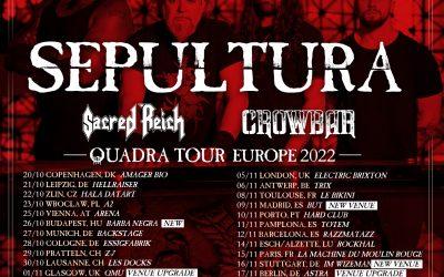 SEPULTURA pospone su gira europea a 2022